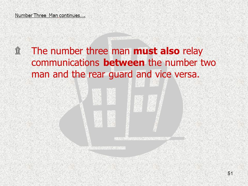 Number Three Man continues….