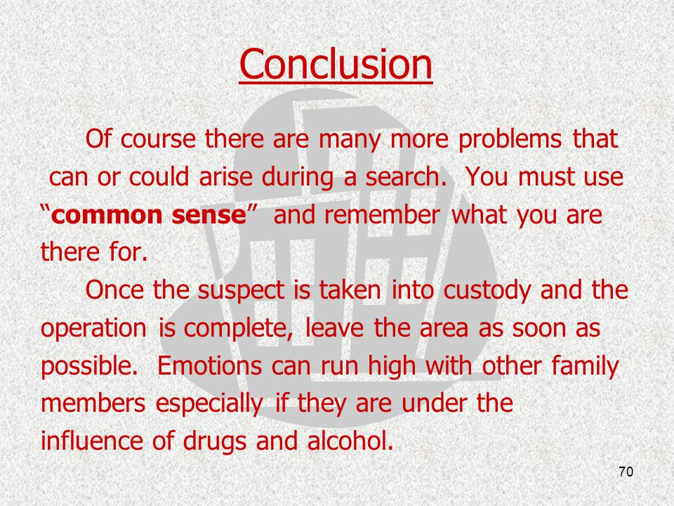 Conclusion Of course there are many more problems that