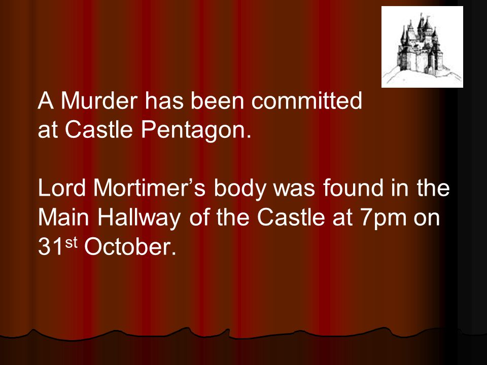 A Murder has been committed at Castle Pentagon