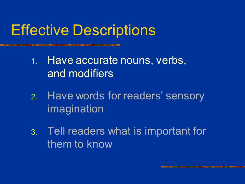 Effective Descriptions