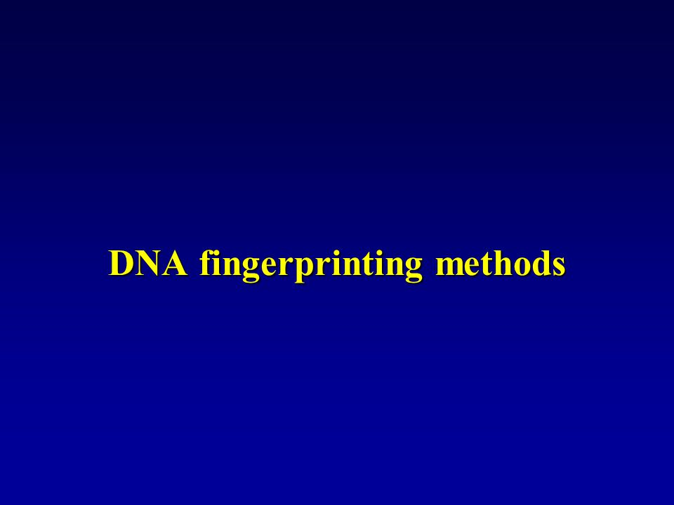 DNA fingerprinting methods