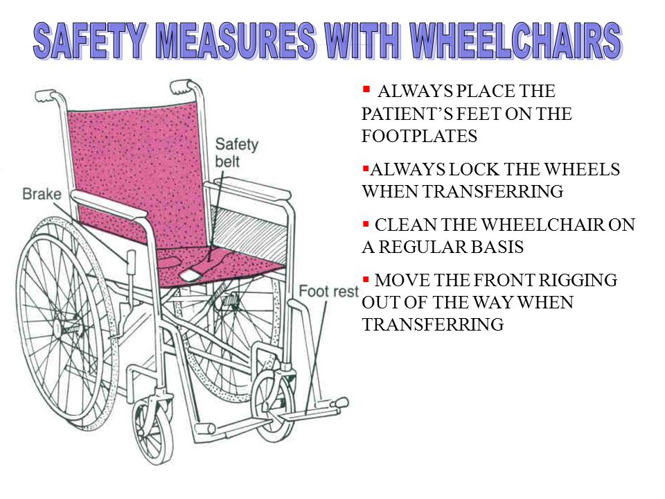 SAFETY MEASURES WITH WHEELCHAIRS