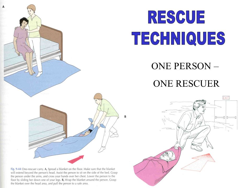 RESCUE TECHNIQUES ONE PERSON – ONE RESCUER
