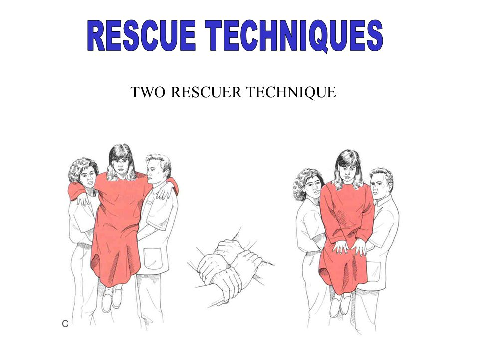 RESCUE TECHNIQUES TWO RESCUER TECHNIQUE