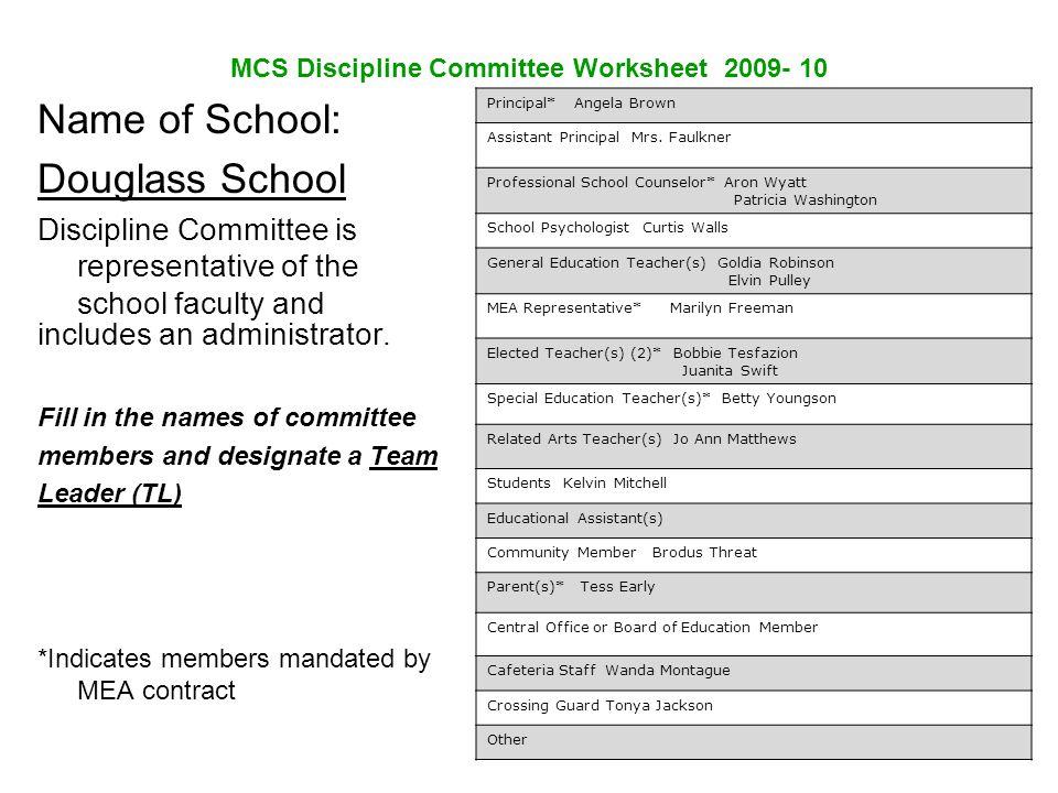 Douglass School Schoolwide Discipline Plan ppt download – In School Suspension Worksheets