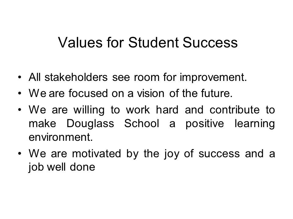 Values for Student Success
