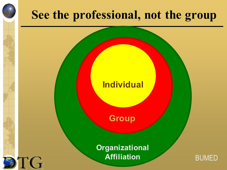 See the professional, not the group