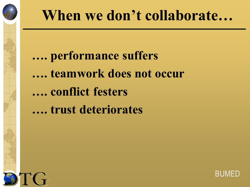 When we don't collaborate…