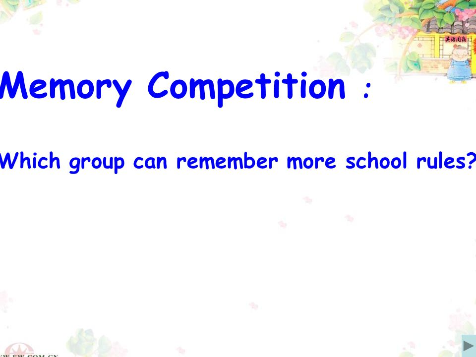Memory Competition : Which group can remember more school rules