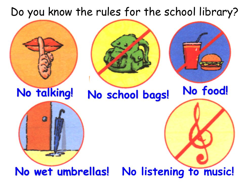 Do you know the rules for the school library