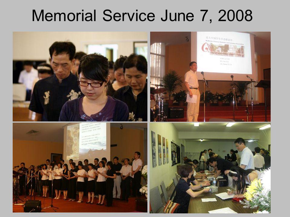 Memorial Service June 7, 2008