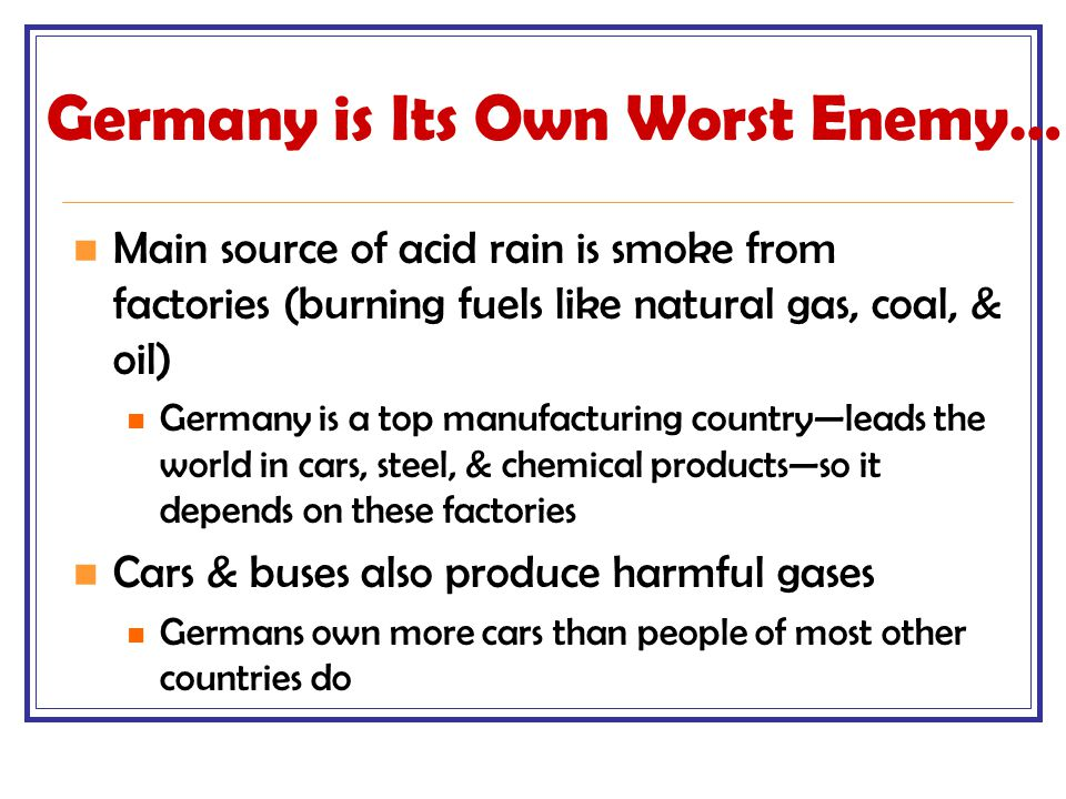 Germany is Its Own Worst Enemy…