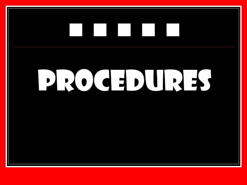 ■ ■ ■ ■ ■ PROCEDURES