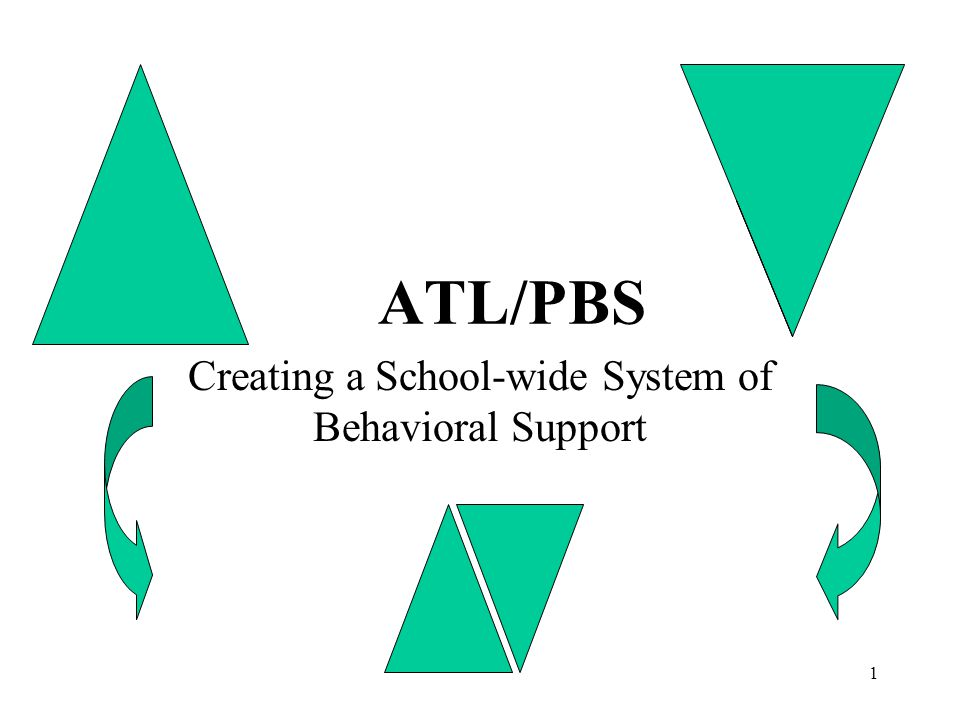 Creating a School-wide System of Behavioral Support