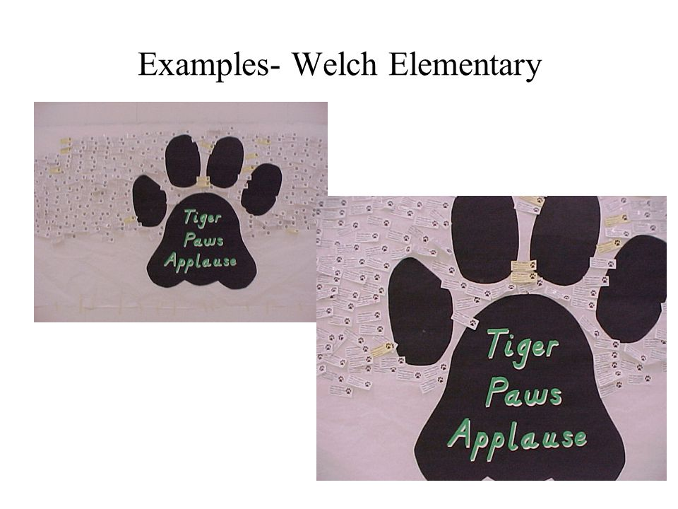 Examples- Welch Elementary