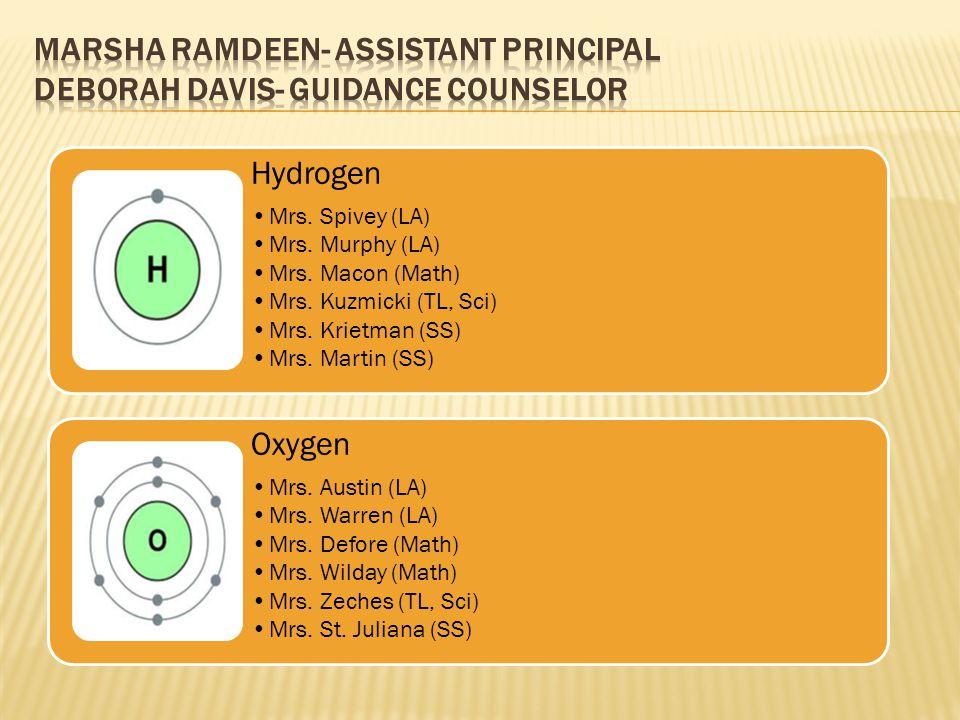 Marsha Ramdeen- Assistant Principal Deborah Davis- Guidance Counselor