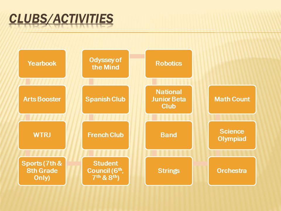 CLUBS/ACTIVITIES Yearbook Arts Booster WTRJ