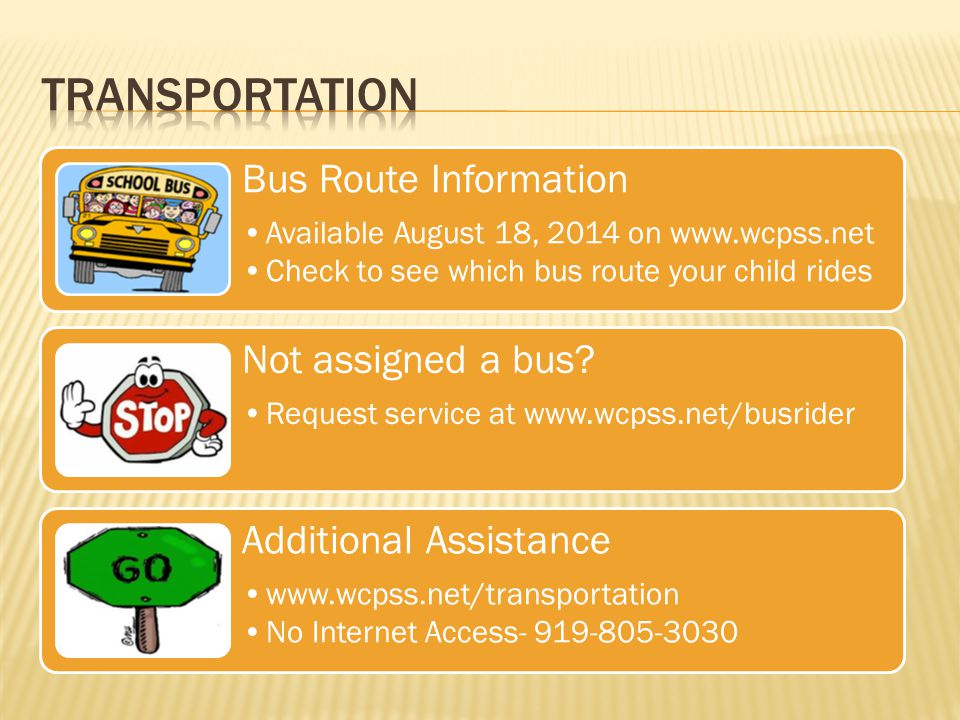 Transportation Bus Route Information