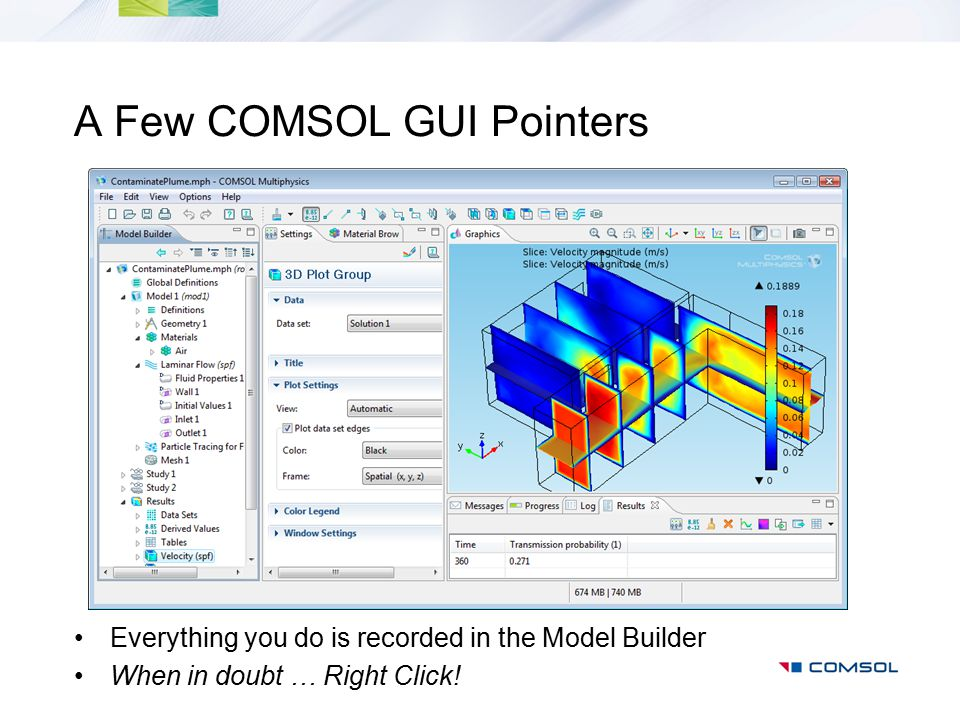 A Few COMSOL GUI Pointers