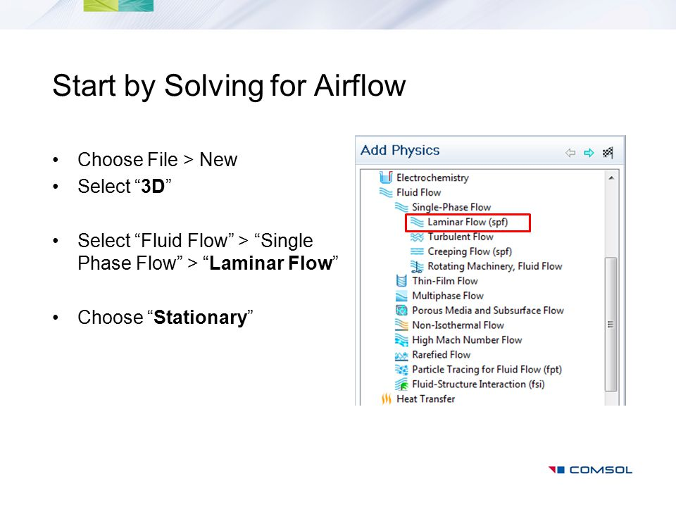 Start by Solving for Airflow