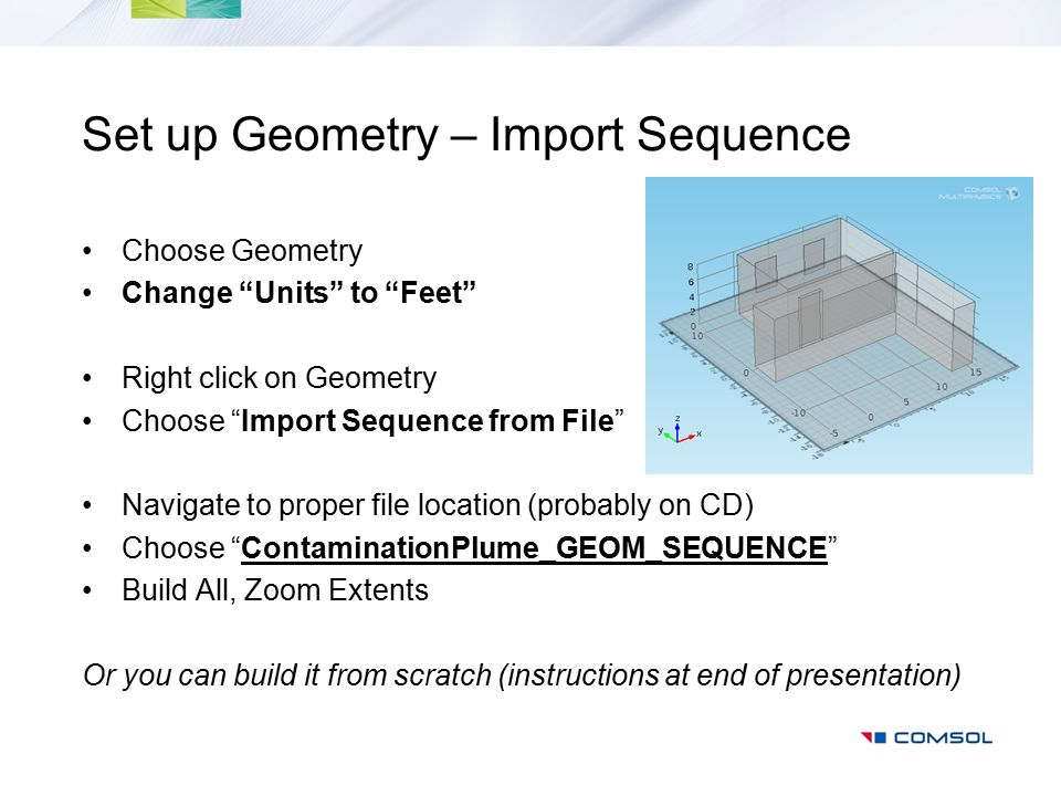 Set up Geometry – Import Sequence