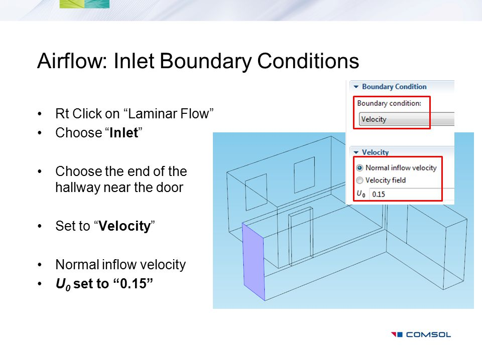 Airflow: Inlet Boundary Conditions