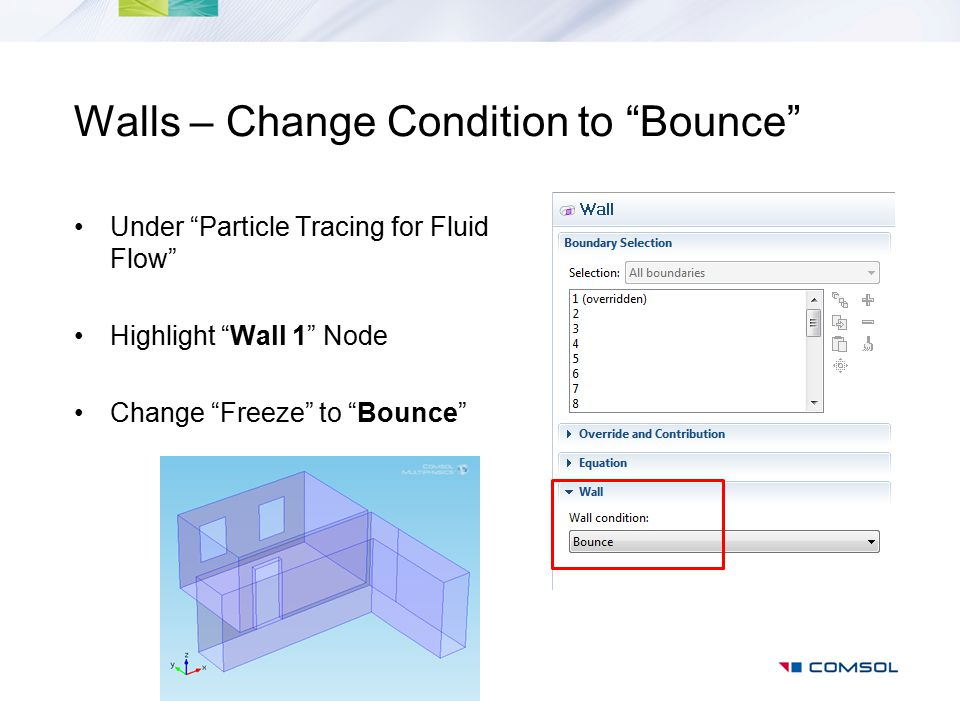 Walls – Change Condition to Bounce