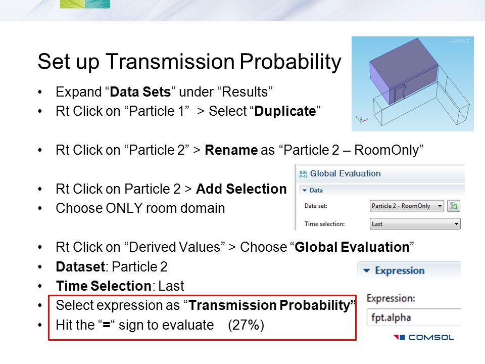 Set up Transmission Probability