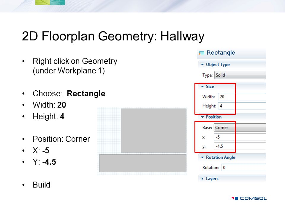2D Floorplan Geometry: Hallway