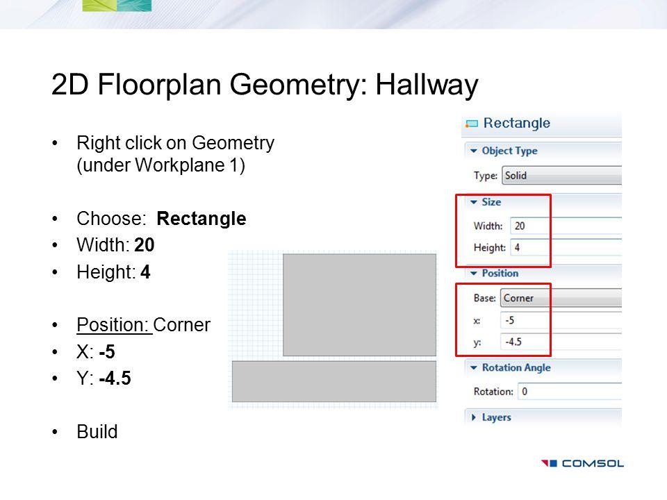 2D Floorplan Geometry: Hallway