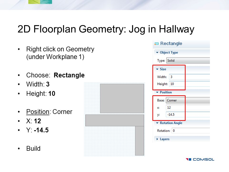 2D Floorplan Geometry: Jog in Hallway
