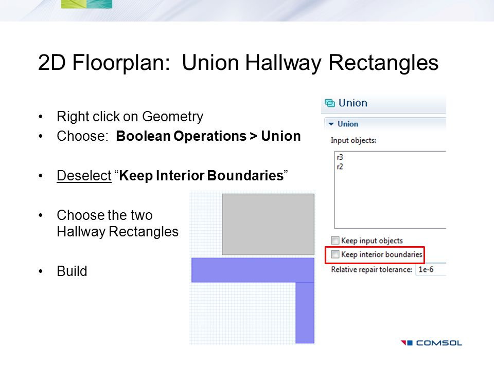 2D Floorplan: Union Hallway Rectangles