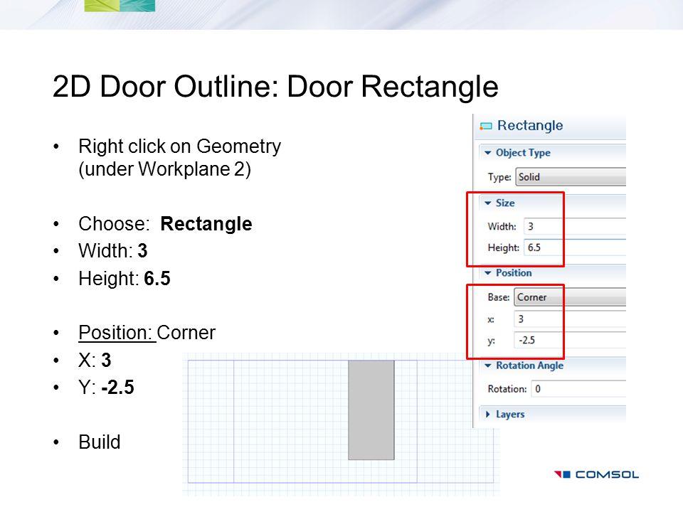 2D Door Outline: Door Rectangle