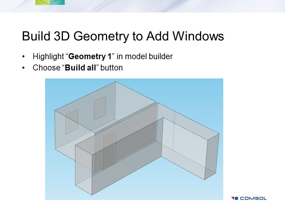 Build 3D Geometry to Add Windows