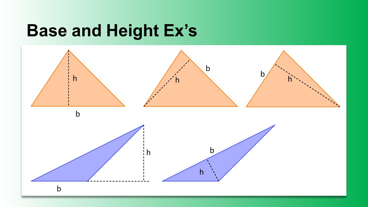 Base and Height Ex's