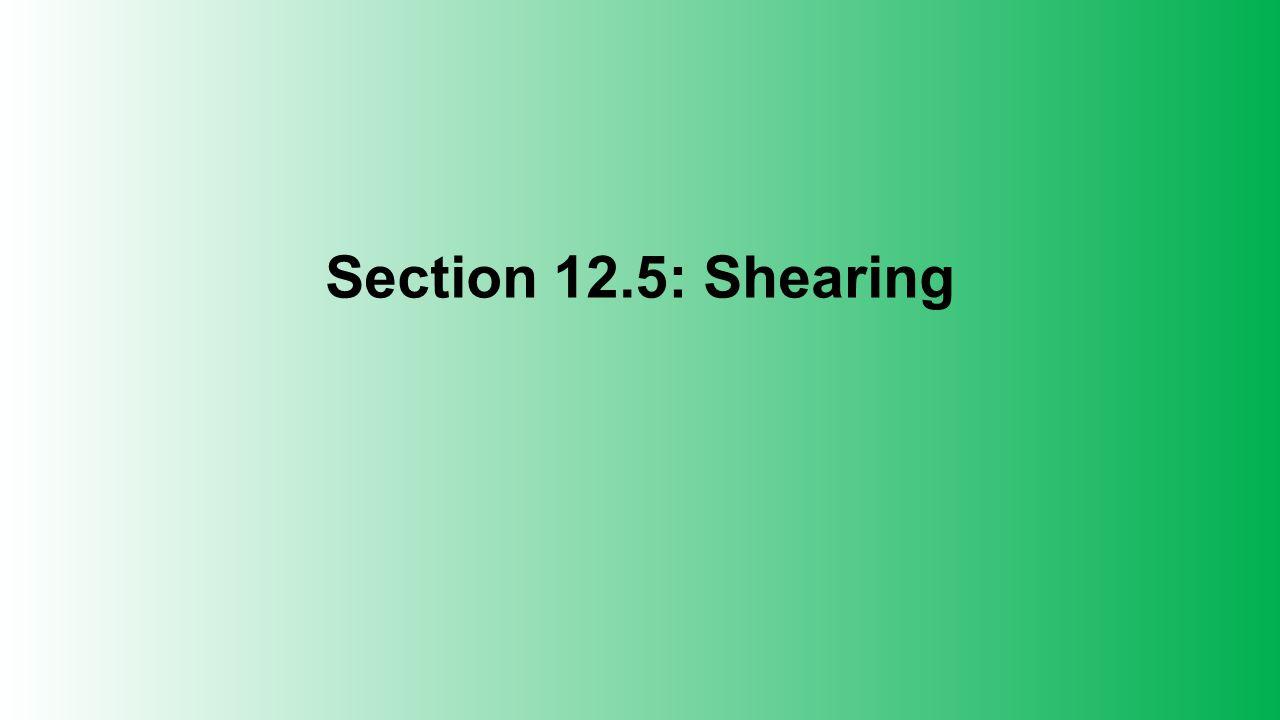 Section 12.5: Shearing