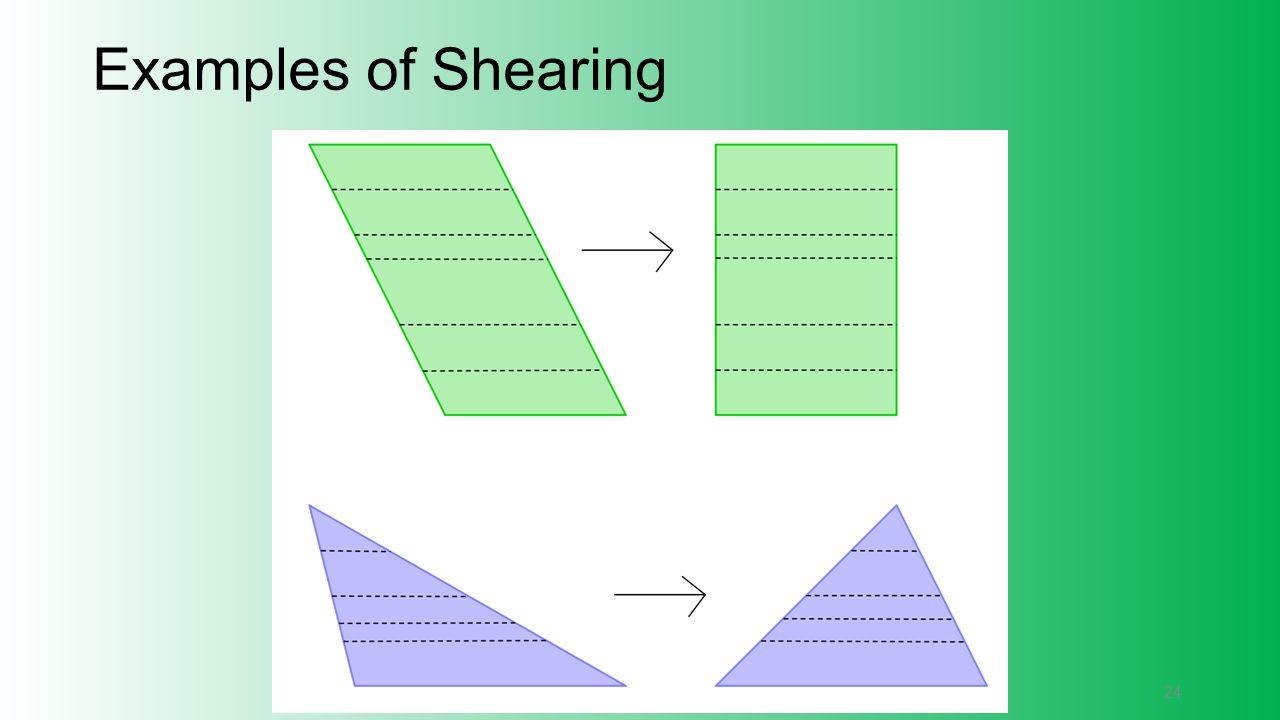 Examples of Shearing