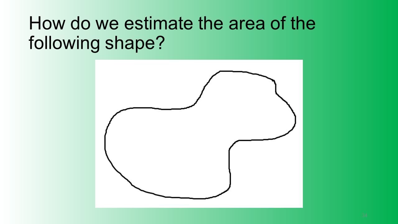 How do we estimate the area of the following shape