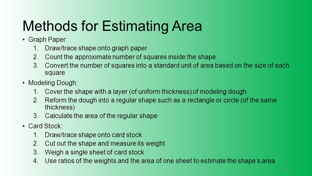 Methods for Estimating Area