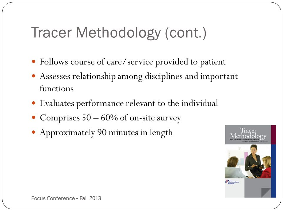 Tracer Methodology (cont.)