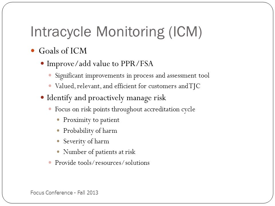 Intracycle Monitoring (ICM)