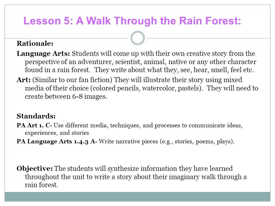 Lesson 5: A Walk Through the Rain Forest: