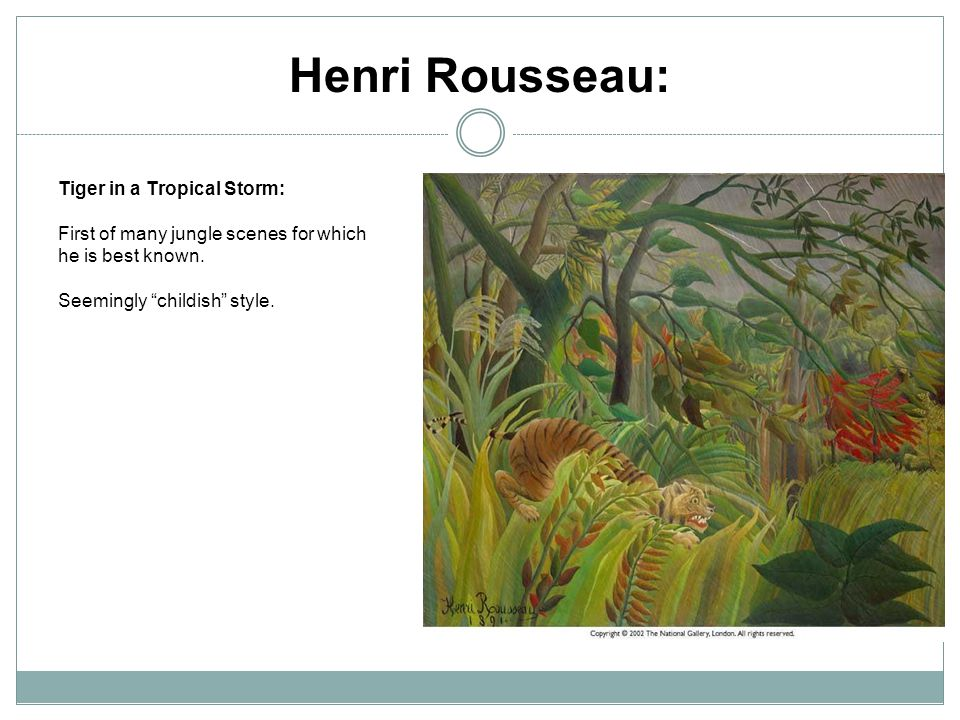 Henri Rousseau: Tiger in a Tropical Storm: