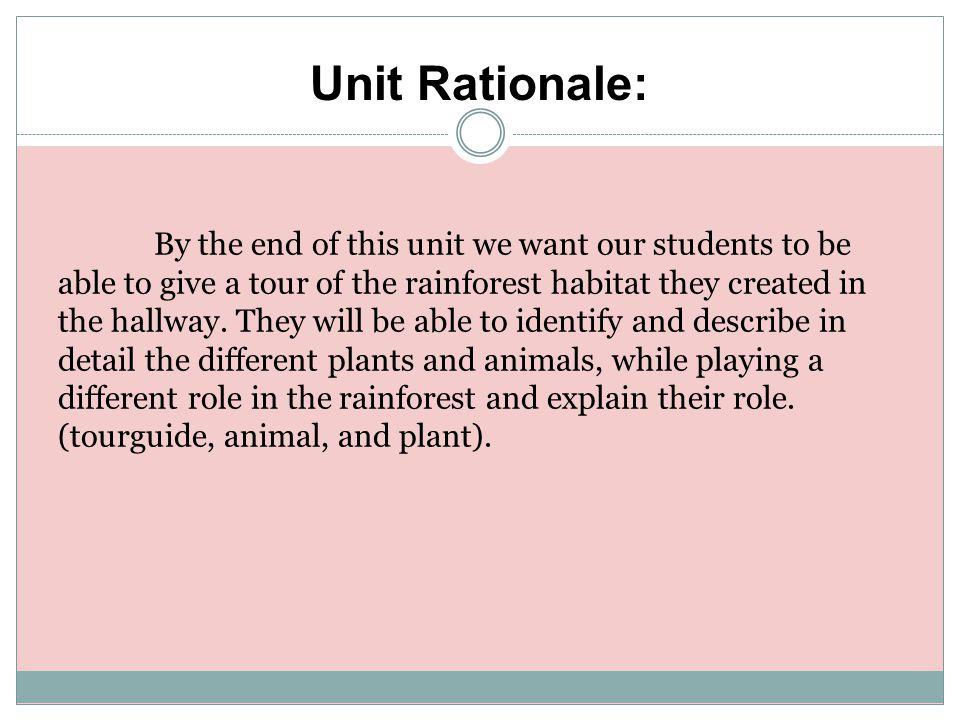 Unit Rationale:
