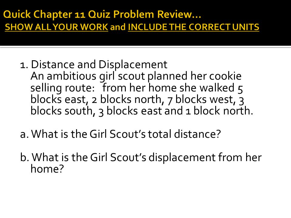 a. What is the Girl Scout's total distance