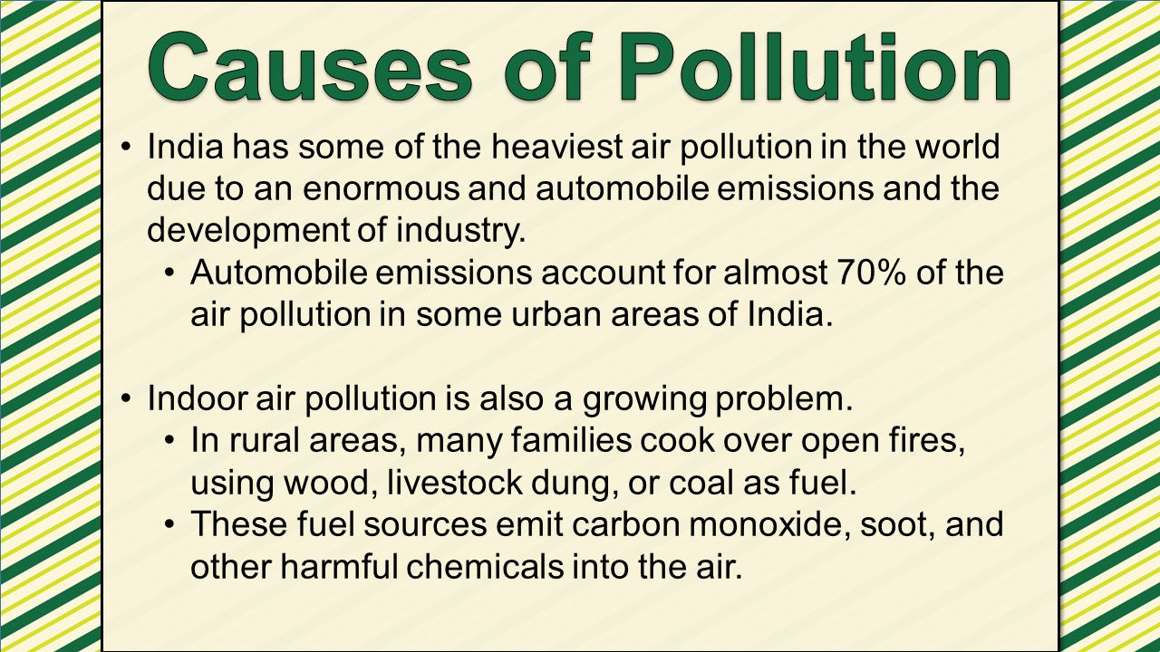 Causes of Pollution