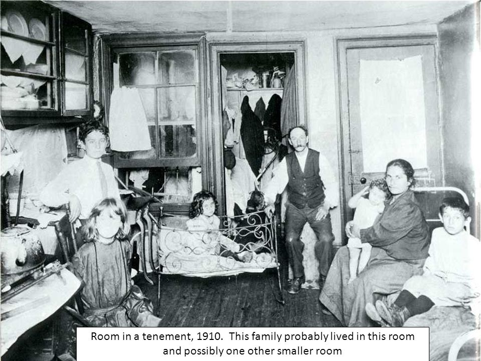 Room in a tenement, 1910.