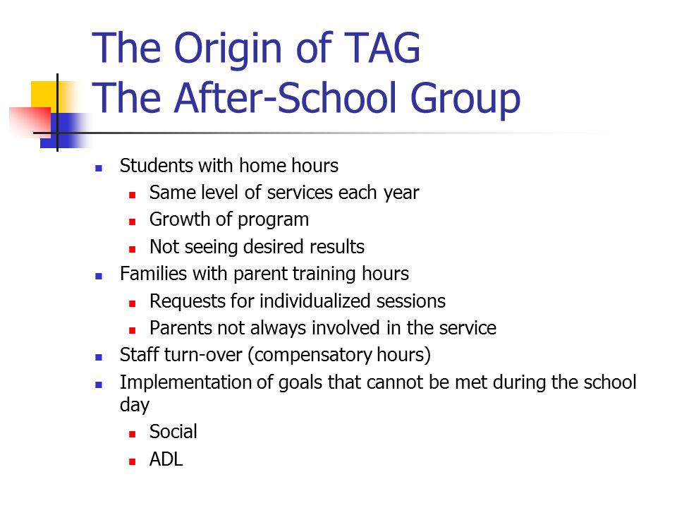 The Origin of TAG The After-School Group