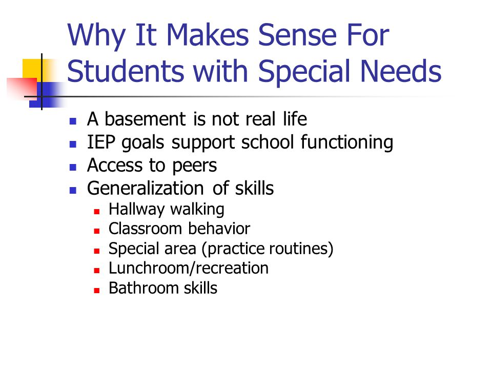 Why It Makes Sense For Students with Special Needs
