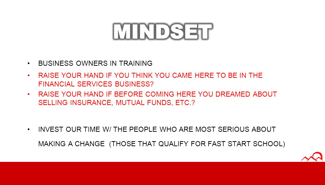 MINDSET BUSINESS OWNERS IN TRAINING